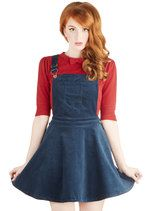 Not gonna lie. I want this. Hello Super Mario inspired outfit.   Jumper at the Opportunity | Mod Retro Vintage Skirts | ModCloth.com
