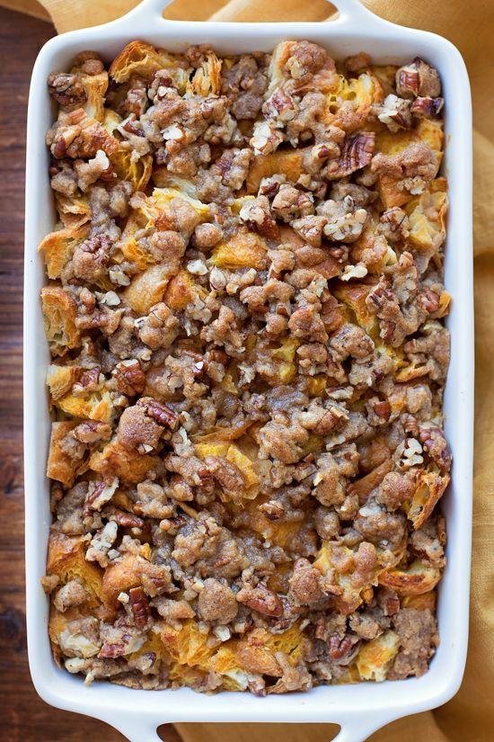 Overnight Pumpkin French Toast Bake | lifemadesimplebakes.com