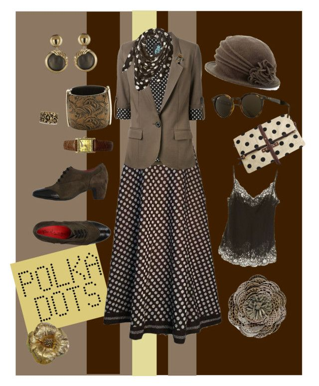 """""""Polka Dots - I"""" by mary-kay-de-jesus on Polyvore featuring Lanvin, Guild Prime, Armani Jeans, PAS DE ROUGE, Scala, Ray-Ban, Alexis Bittar, Yves Saint Laurent, Chico's and Gucci"""