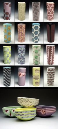 Exploring Form and Surface Pattern in Slip-Cast Pottery