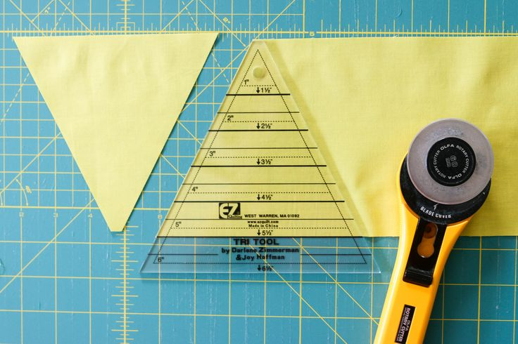 Quilting With Equilateral Triangles, Part 1: Cutting