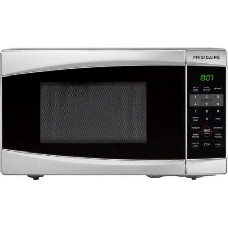 Frigidaire 0.7 Cu Ft 700W Countertop Microwave Oven, Stainless Steel, Silver
