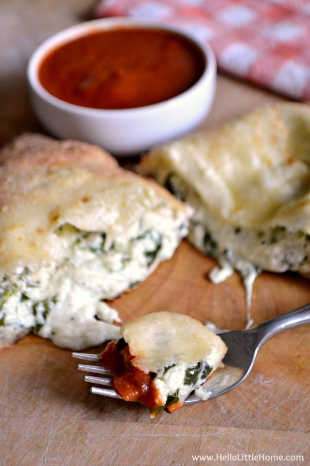 Calzones - Cheezy Spinach Version Recipe — Dishmaps