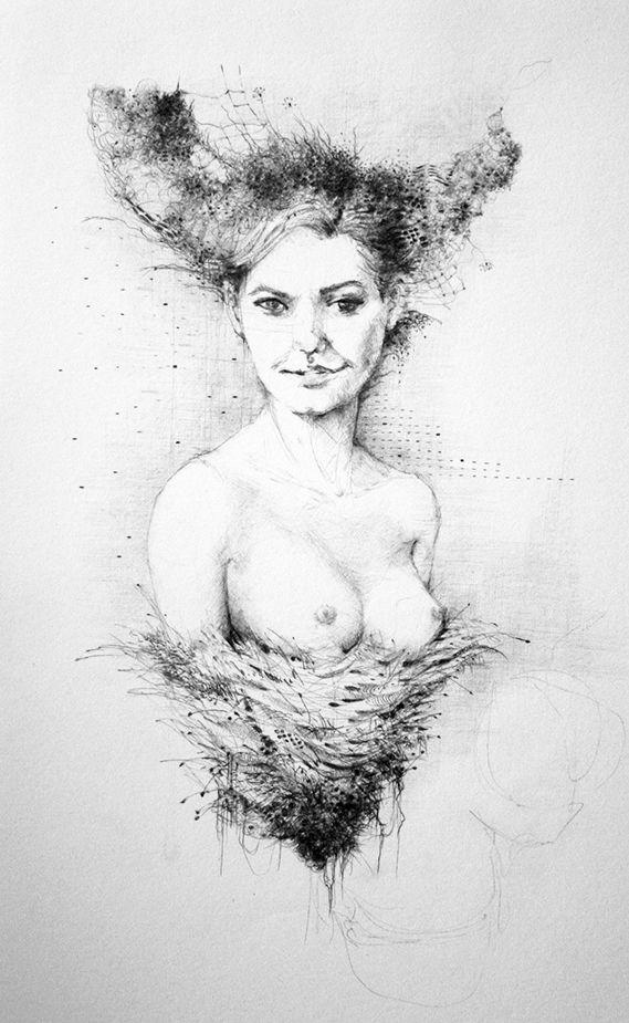 Lada Slovanská bohyňa jari a lásky. Ilustrácia - perokresba.  Slavic goddess of spring and love.  #goddess #love #art #ink_illustrated