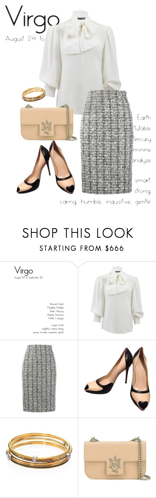 """""""virgo"""" by masayuki4499 ❤ liked on Polyvore featuring Alexander McQueen"""
