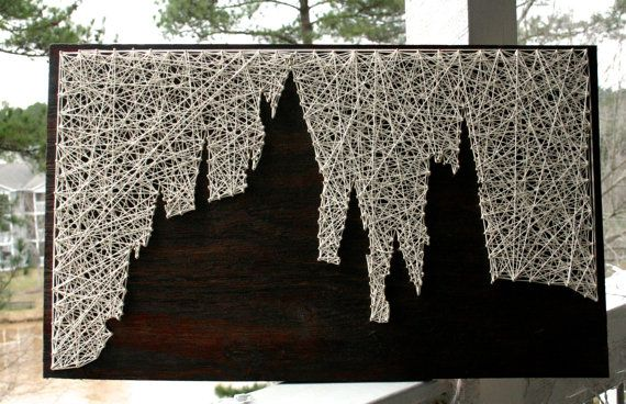 Harry Potter String Art/ Hogwarts is My Home/ by DistantRealms