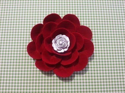 17 migliori idee su fiori di feltro su pinterest rose in for Fiori di cartoncino