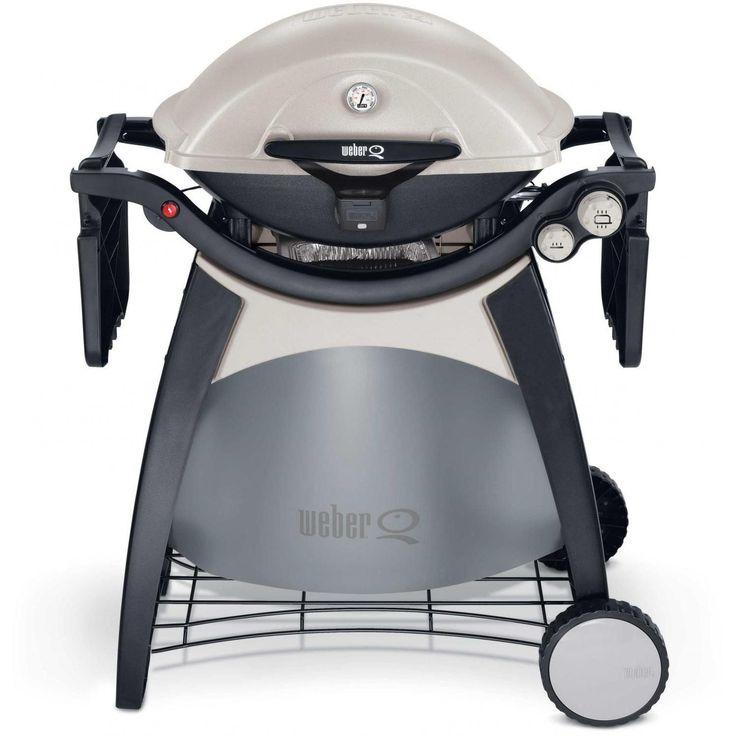 weber grill patio ideas | Weber Q 320 Propane Gas BBQ Grill On Cart Weber Gas Grills Q Series ...