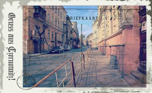 Greetings from Chernivtsi III (Postcard Imitated)
