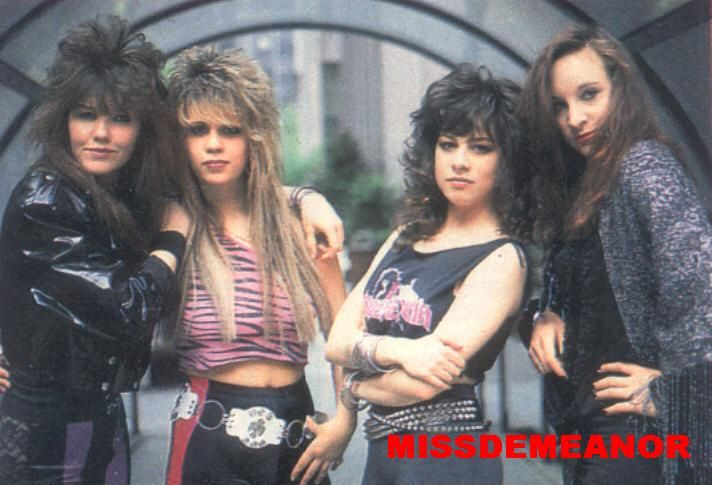 80s bands   MISSDEMEANOR? (All girl '80s metal band)