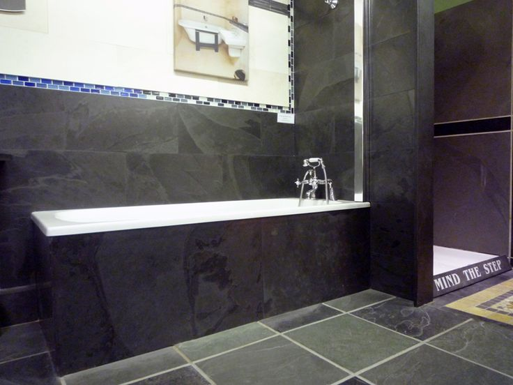 Best contemporary bathrooms with slate bath surrounds and tiles