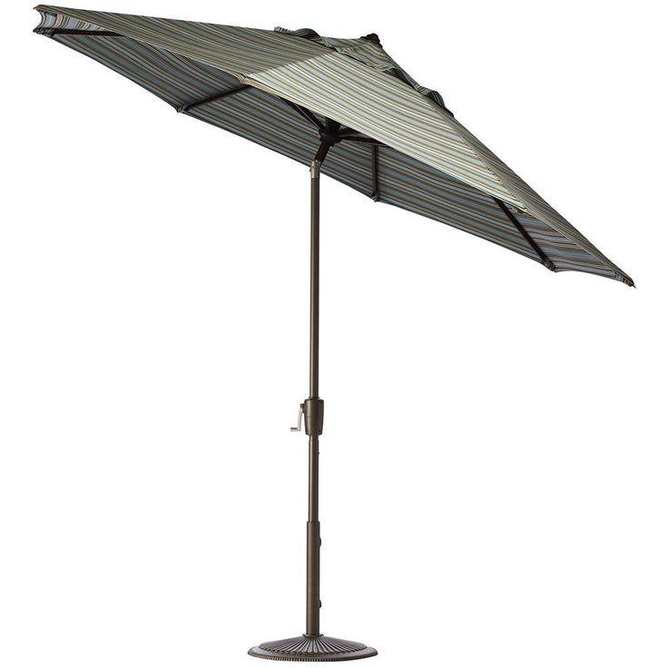 Aluminum Auto Tilt Patio Umbrella In Sunbrella