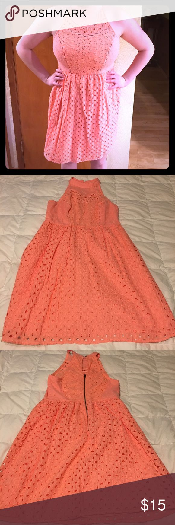 Coral Sundress Never worn coral sundress. Super cute back! Xhilaration Dresses Mini