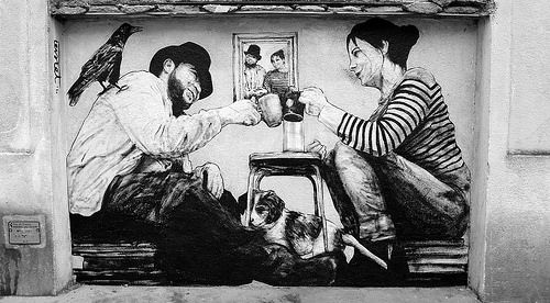 street art by Levalet http://restreet.altervista.org/levalet-si-muove-in-bilico-tra-la-poesia-e-la-denuncia-sociale/