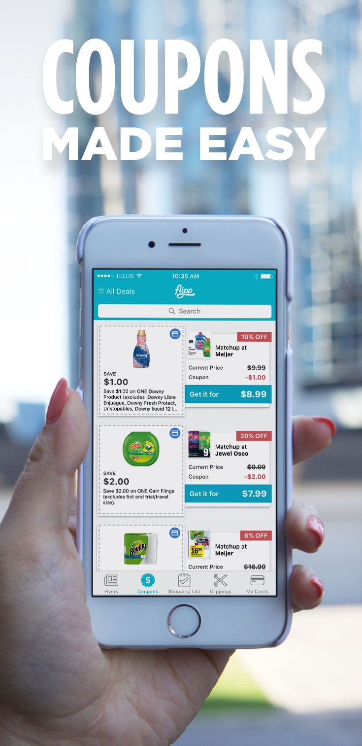 Say goodbye to print coupons; say hello to digital. Clip coupons to your loyalty cards seamlessly and start saving with the Flipp app. Download for free.