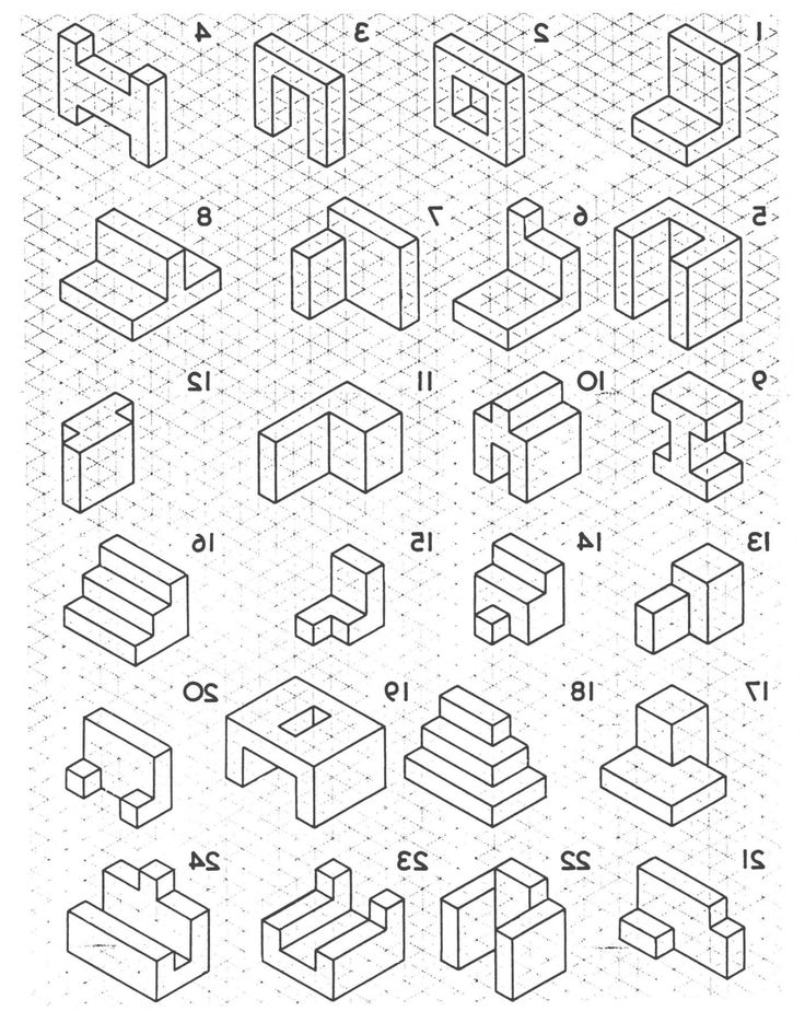 16+ Drawing 3D Shapes On Isometric Paper Worksheet