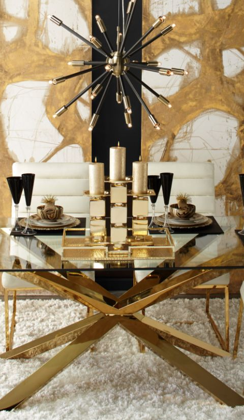 Black Gold Essential Hemisphere Chandelier Apartment ChecklistLighting IdeasBlack GoldDining RoomsChandeliersHome Decor
