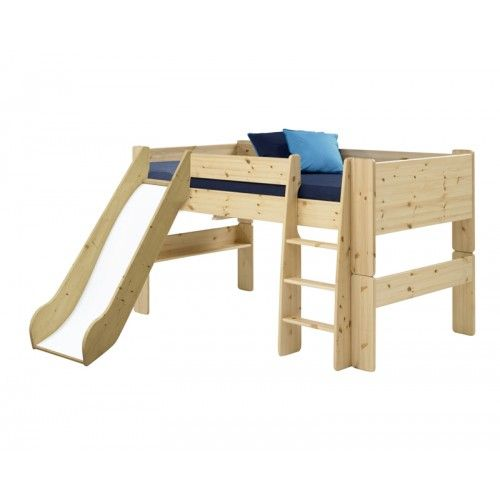 Steens for Kids Mid Sleeper with Slide (Solid Pine)