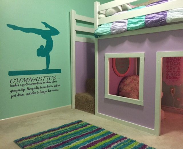A personal favorite from my Etsy shop https://www.etsy.com/listing/263347388/gymnastics-wall-decal-quote-teaches-a