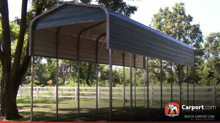 RV Carport Regular Metal Roof 12' x 36' Rv carports