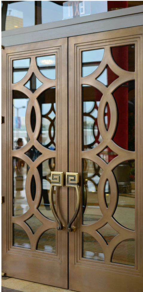 Bronze fretwork door  Use its design for Wooden Door
