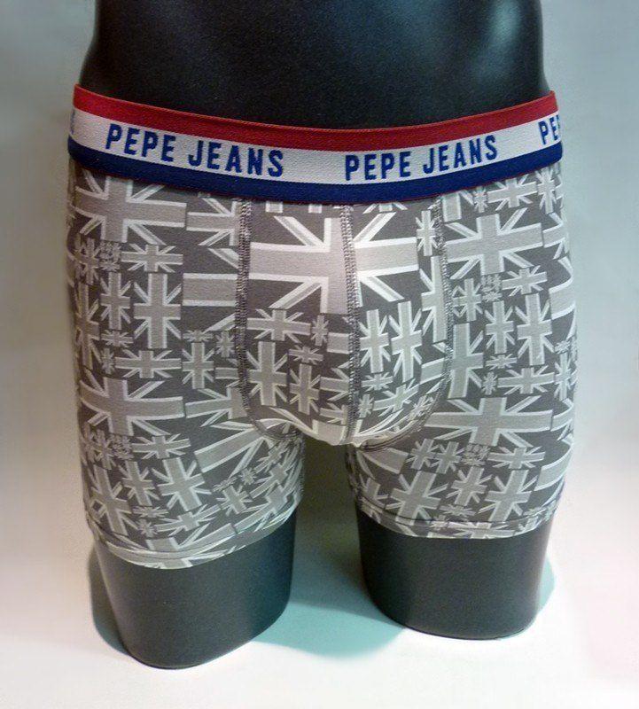 ENVÍO 24/48 h - Comprar Boxer England Pepe Jeans - PMU10125 0AA - Boxer estampado con banderas del Reino Unido, en tonos grises. Tu ropa interior masculina en varela intimo http://www.varelaintimo.com/