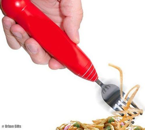 Forchetta elettrica con pulsante