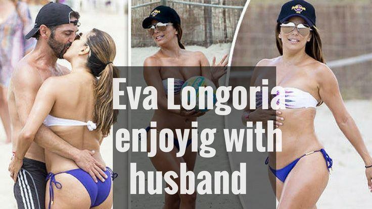 Eva Longoria Shows Off Bikini Body with Husband Jose Baston on beach
