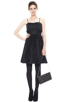 French Connection Black Prom Flared Dress £150 UK6/EUR34/US2