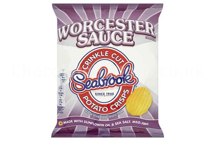 Seabrook Worcester Sauce crisps.