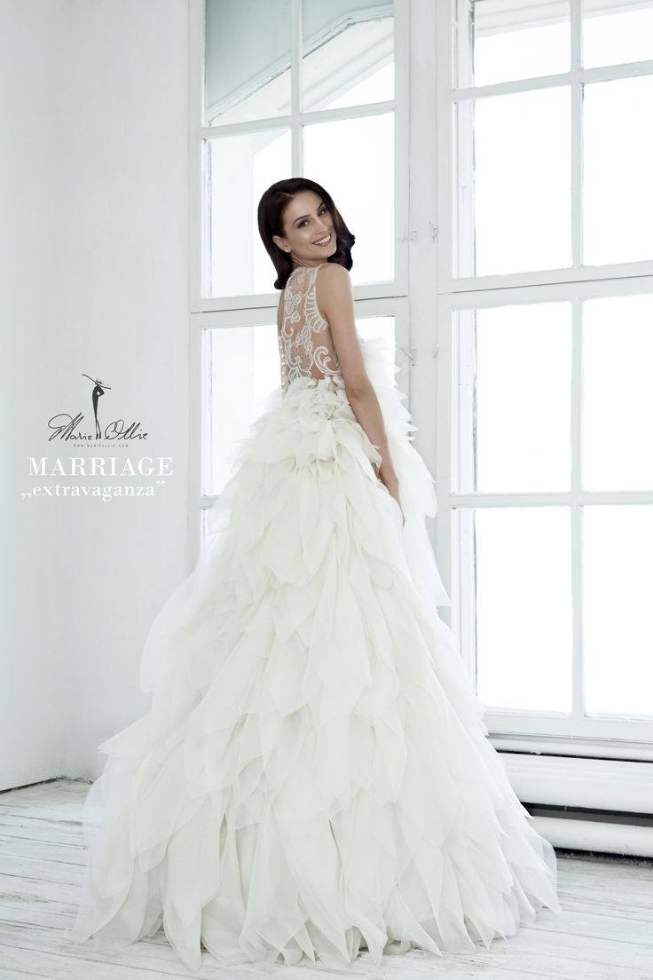 """Marie Ollie, Marriage, ,,extravaganza"""" wedding dress, bridal collection"""