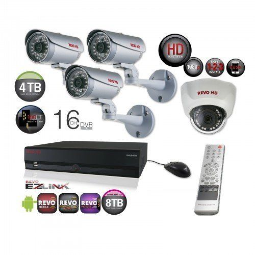 $1,599.99 #Surveillance System Bundle - #16Channel #Network #Video Recorder with Huge 4TB Storage and 4 HD CCTV #Cameras (Indoor/Outdoor, Weatherproof, Day Night Vision)