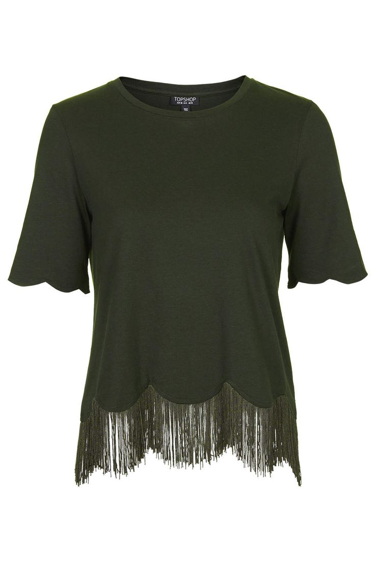 I absolutely love this. /// Fringe Scallop Tee