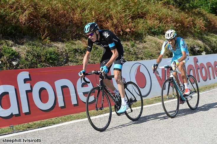 2014 vuelta-a-espana photos stage-18 - Christopher Froome (Team Sky) looking for GC time, Fabio Aru (Astana) looking for the win