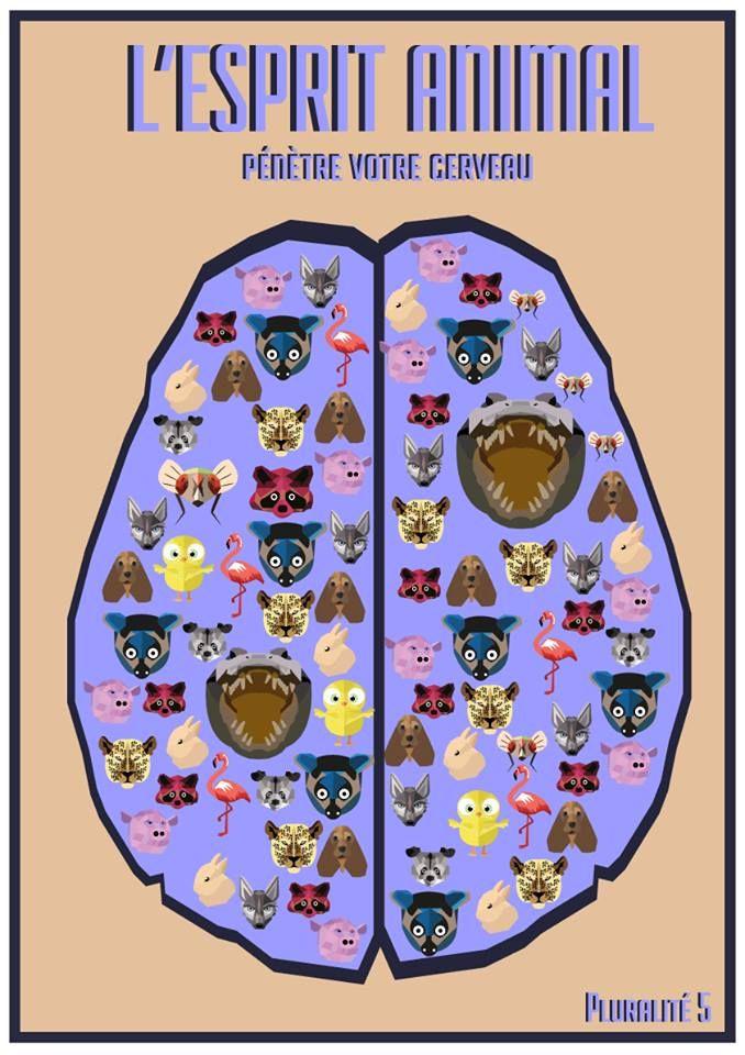 // Cerveau animal // #cerveau #esprit #animal #espritanimal #animalspirit #spirit #animals #animaux #graphisme #vectoriel