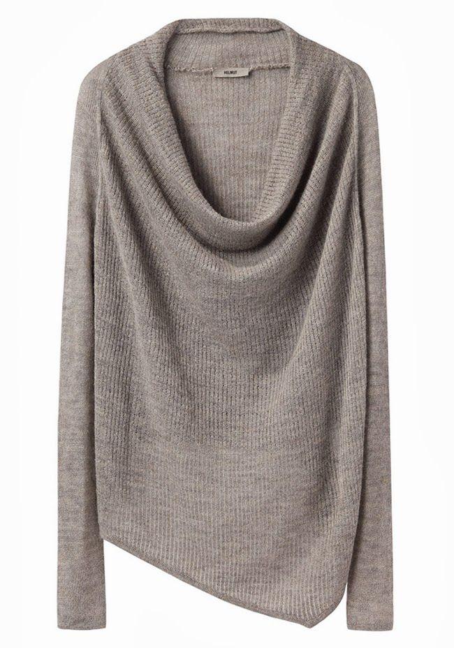 Helmut Lang cowl neck knit sweater