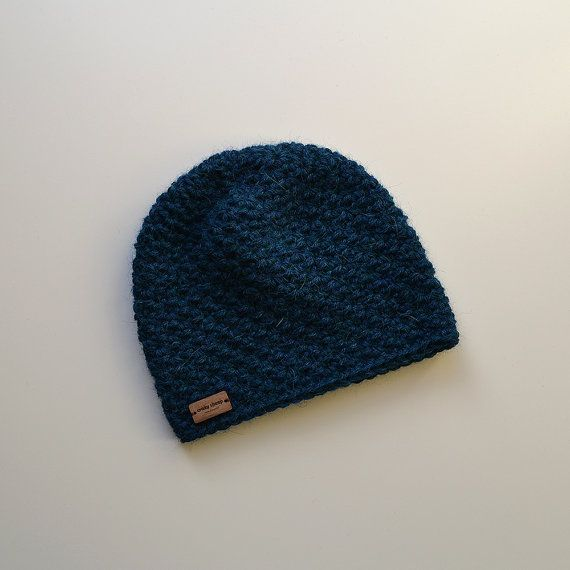 Baby/Toddler Alpaca Winter Hat  Petrol. Different by acrazysheep