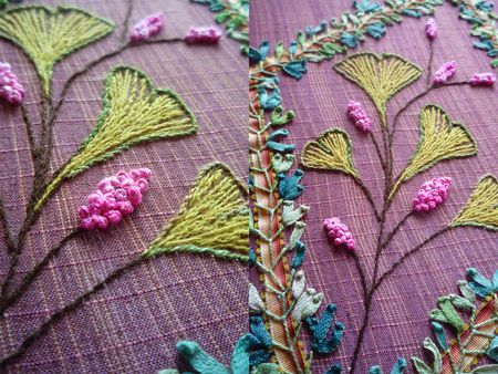 Beautiful silks and embroidery