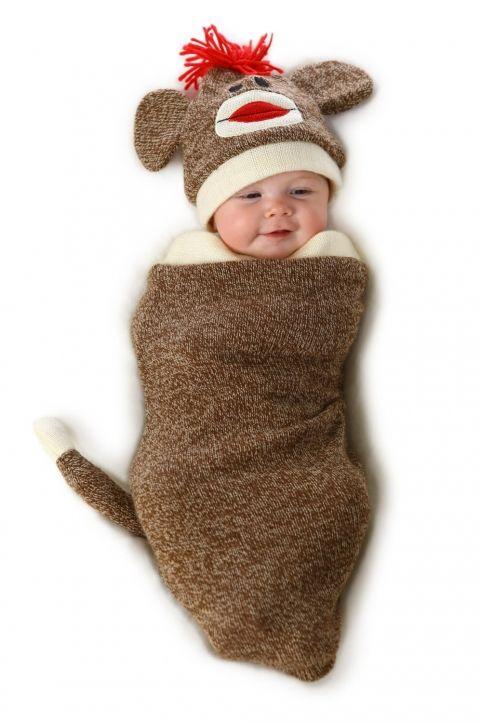Baby Sock Monkey Halloween Costume