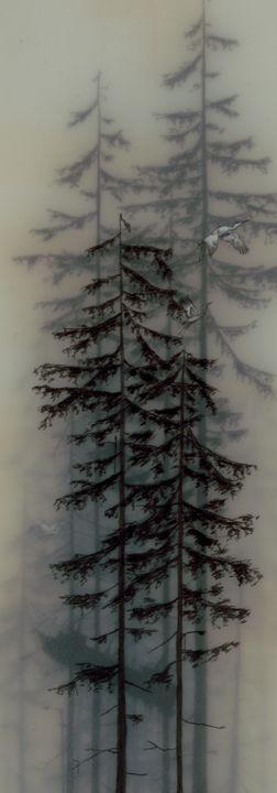 ✿ڿڰۣ•ᎢᎻᏋ•ƑᎧƦᏋςᎢ•✿ڿڰۣ TO DO: Embroidery on gauze, tulle. organza, mixed media including gauzing animal hair to simulate fog
