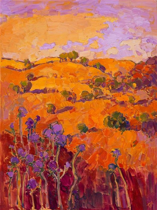 The Orange Show - Featured oil painting at The Erin Hanson Gallery