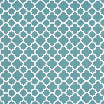 Shop Riley Blake Quatrefoil Medium Teal Fabric at onlinefabricstore.net for $9.5/ Yard. Best Price & Service.
