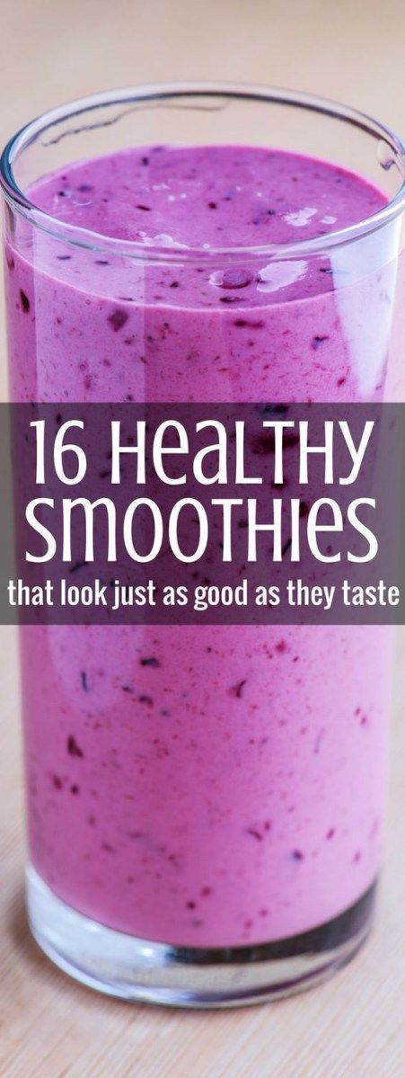 Healthy smoothies are perfect for detox programs and you'll love these 16 beauties.