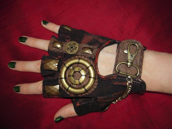 WOMENS Steampunk Moonhoar Monster Glove by moonhoar on Etsy, $30.00  I really like these. I might have to make some.