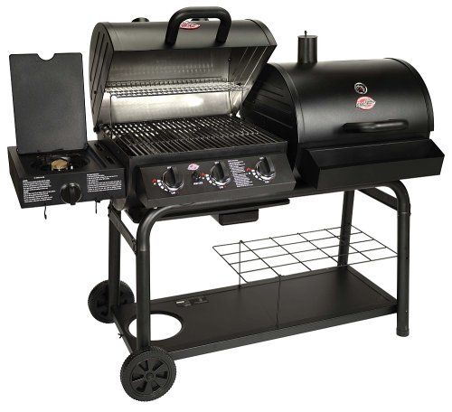 New Pro Char-Griller Duo Gas-and-Charcoal Portable Propane 3 Burner B-B-Q Grill