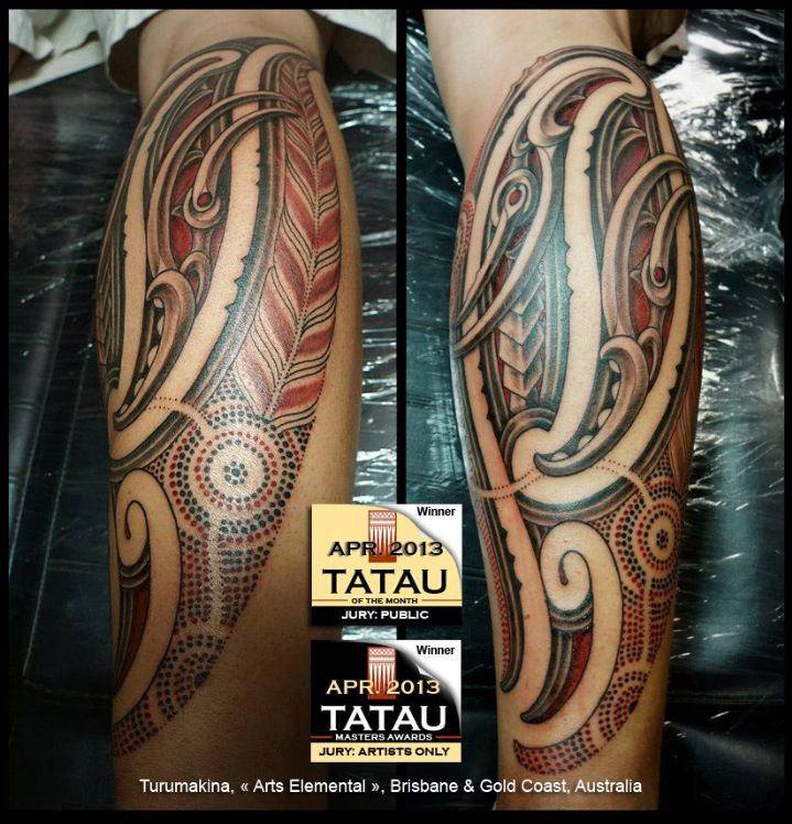 Awesome ta moko tattoo from Gold Coast