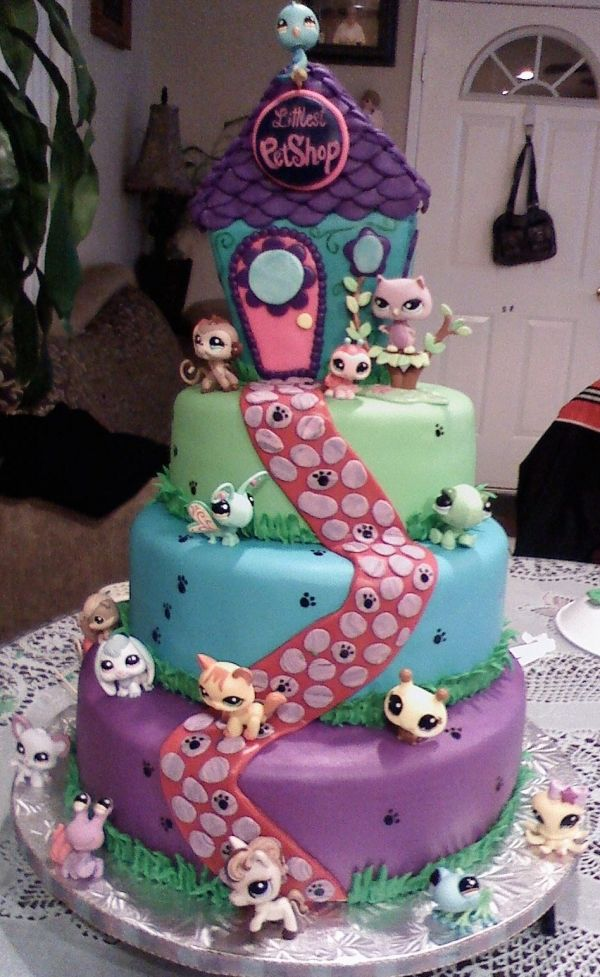 All of these cakes are amazing!!! Littlest Pet shop cake!