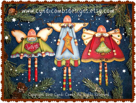 CC189 Angel Danglers Painting E Pattern by by CyndiCombsDesigns