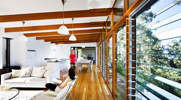 Architecture, Amazing Storrs Road Residence Interior With Open Floor Interior: Modern and Eco-friendly Home Design Ideas
