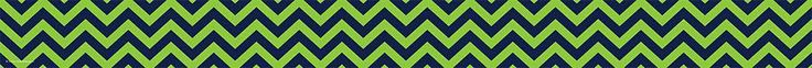 Navy & Lime Chevron Straight Bulletin Board Border